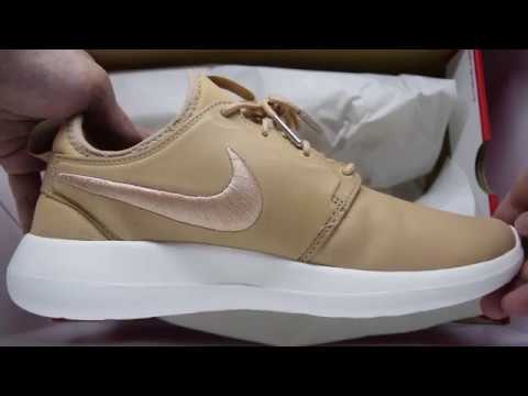 finest selection 4852f dffb3 Nikelab Roshe 2 Leather Premium (Vachetta Tan White) Unboxing