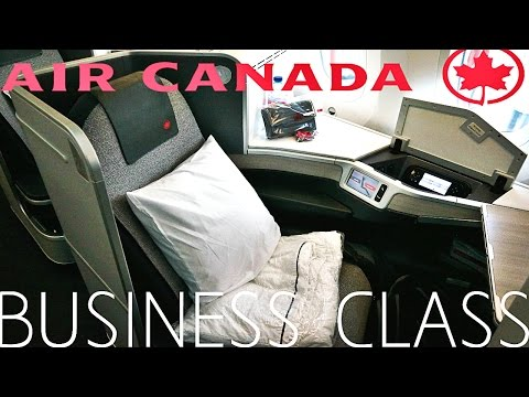 AIR CANADA 787 DREAMLINER BUSINESS CLASS REVIEW !