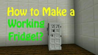 Minecraft : How to Make a Working Fridge!? YouTube