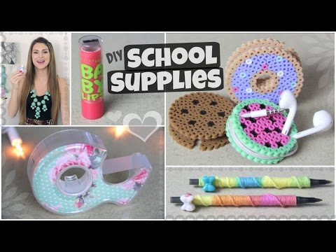 Thumbnail: DIY School Supplies for Back-To-School // Lipstick USB, Yarn Pen & More!