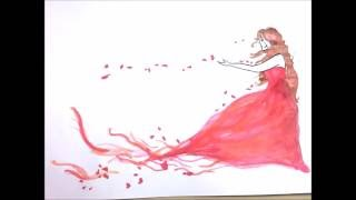 Flower girl sketch: The Sketch and Paint Mania