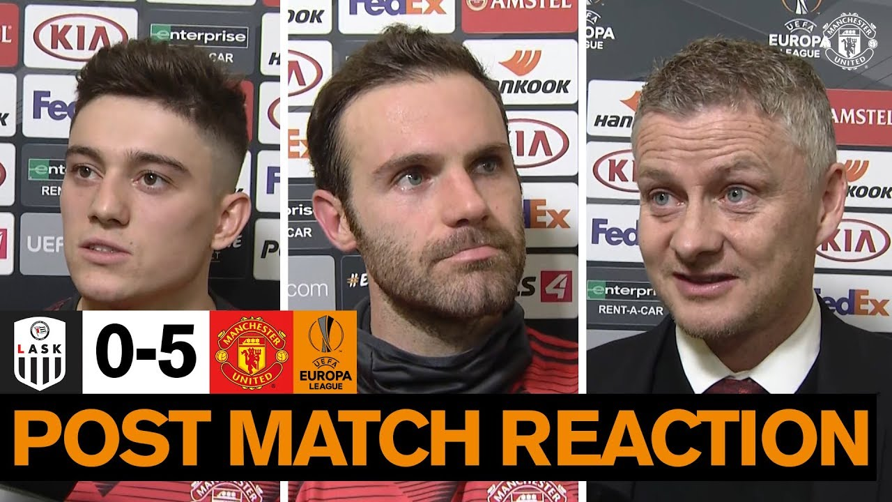 Solskjaer, James & Mata happy with win over LASK | LASK 0-5 United | UEFA Europa League