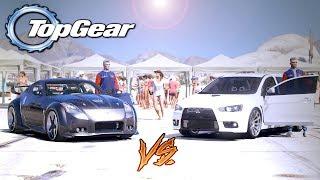 GTA V: TOP GEAR | Evolution do RD vs 350Z dj TJ , você aposta em qual ?