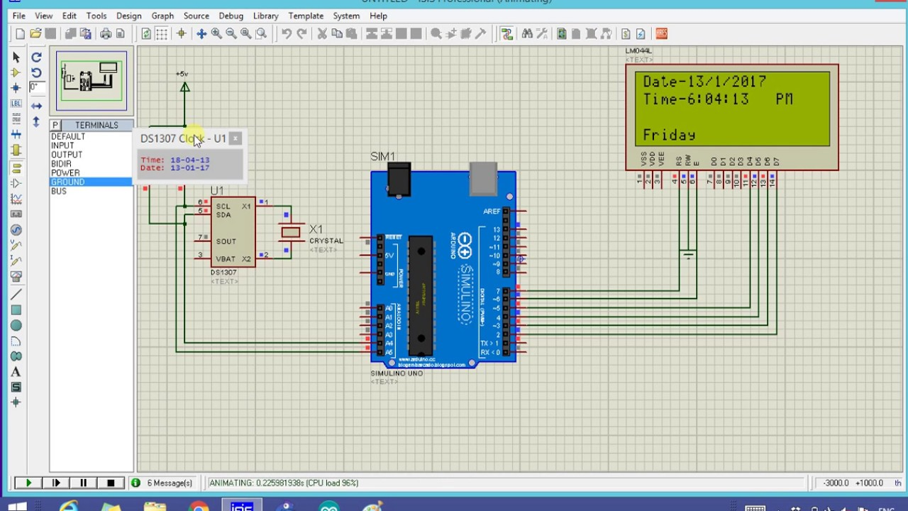 Ds real time clock simulation with arduino youtube