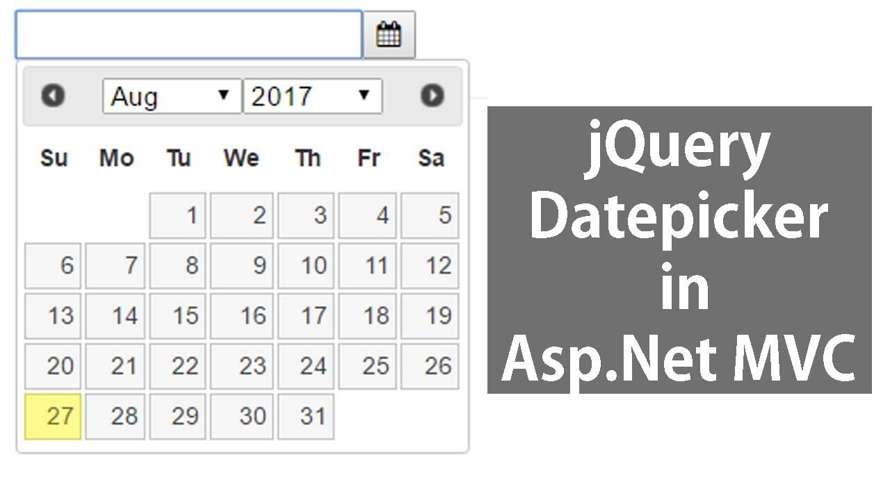 jQuery Datepicker in Asp.Net MVC