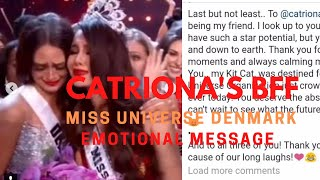 Catriona's bff Miss Denmark 2018 (Message) Emotional Message