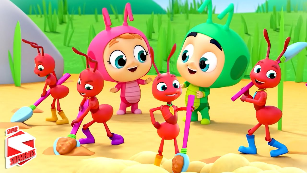 The Ants and The Grasshopper Story | Pretend and Play | Cartoon Stories for Children | Kids Tv