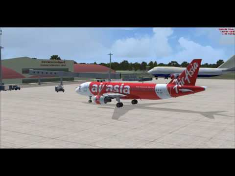 Airbus Extended A320-200 Thai Airasia Fly VTUD To VTBD [Full flight] 09 11 2016