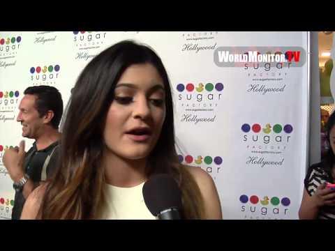 Kylie Jenner on Kim Kardashian Engagement at Sugar Factory Hollywood Grand Opening
