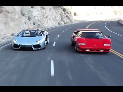 Lamborghini Countach Vs Aventador Roadster Youtube