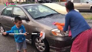 """Tiền là """"Mồ Hôi"""" hôm nay tiết kiệm được $30, rửa xe tại nhà《 Cuộc Sống Canada 》 Washing car at home"""