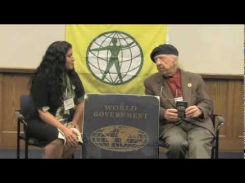 Garry Davis and Mariana Vergara in Dialogue on the World Passport, 2012