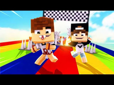 CORRIDA COLORIDA PERIGOSA NO MINECRAFT