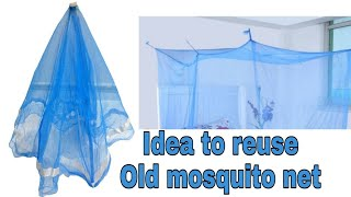 Best out of waste ideas / old mosquito net reuse ideas / Diy flower bunch