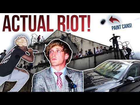KSI VS LOGAN PAUL RIOT AT PRESS CONFERENCE *ACTUAL FOOTAGE* thumbnail