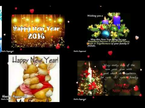 Happy New Year 2016 To All My Family & Friends - YouTube