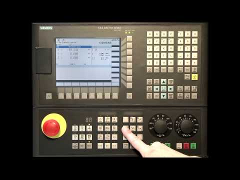 SINUMERIK 808D Tutorial Milling Part 2 - Switch On & Reference