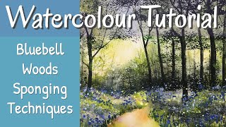 Step By Step Watercolour Painting Tutorial Bluebell Woods