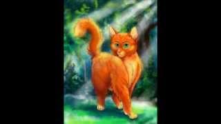 Коты воители Огнегрив (Рыжик). история Огнегрива mp4