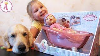 Пупсик для купания Беби Анабель обзор игрушки и распаковка куклы My First Baby Annabell Алиса и Граф