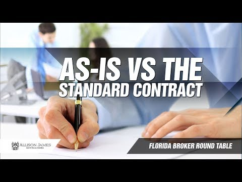 As-is VS the Standard contract for Florida REALTORS®