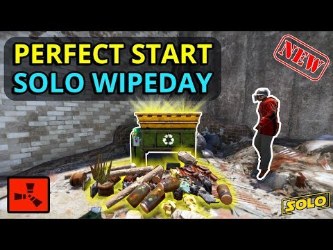 RUST SOLO: PERFECT START To A NEW SOLO Wipe!! (Ep1) thumbnail