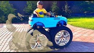 Senya ضع العجلات الضخمة على سيارته الصغيرة!