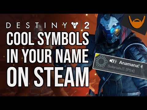 Destiny 2 Symbols In Steam Name / Look Cool With Destiny Icons Or Emojis