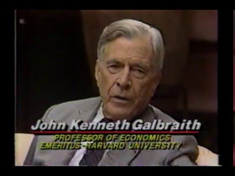 Pt 2 - Wall Street Week **John Kenneth Galbraith** (1989 - Sept 8)