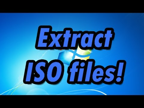 How to extract ISO files (Using WinRar) - YouTube