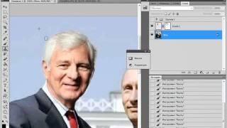 Фотомонтаж: Замена лица в Photoshop CS5(Заменяем лицо на изображении. Для большей реалистичности используем трансформацию и корректирующие слои., 2011-06-29T16:51:00.000Z)
