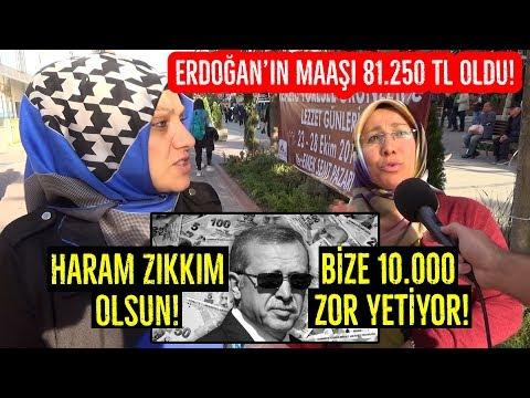 CB. Erdoğan'ın Maaşına 6750 TL Zam Yapıldı! Yeni Maaşı 81.250 TL