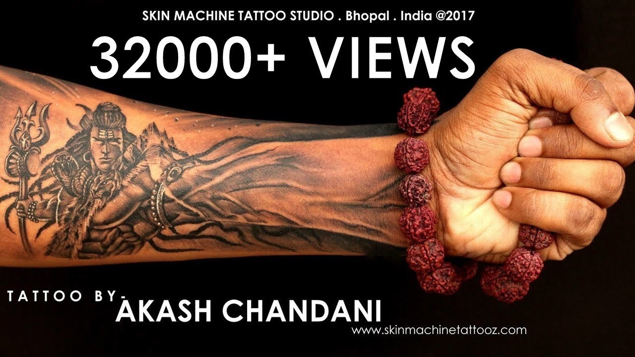 World S Best Tattoo Lord Shiva By Akash Chandani Youtube