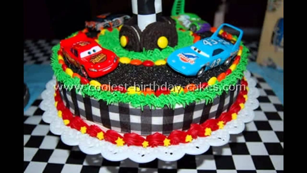 Cake Design Cars Theme : Car themed Party cake ideas - YouTube