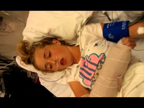 Heavily sedated girl makes everyone laugh
