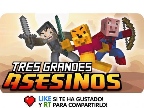 TRES GRANDES ASESINOS! | Sara Gona y Luh en Minecraft Assassination