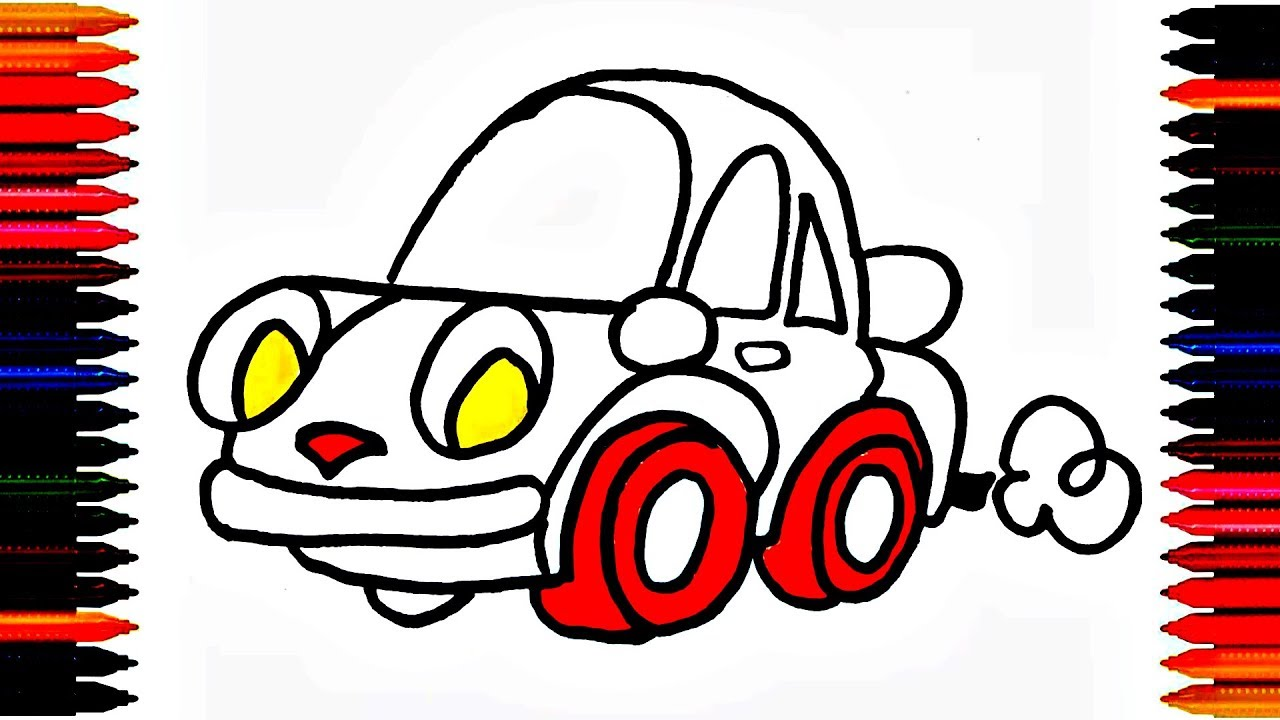 colours for kids car coloring pages how to color car drawing car