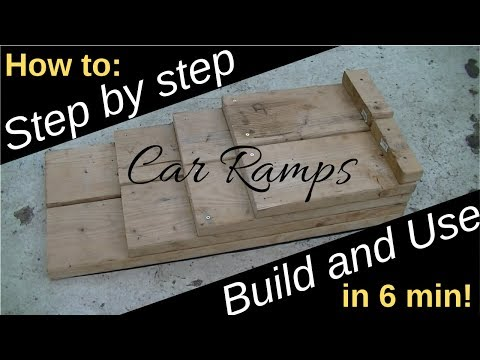 Great DIY idea for Cars! Homemade Car Ramps