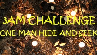 (NEVER AGAIN!!) OVERNIGHT CHALLENGE~ONE MAN HIDE AND SEEK IN HAUNTED FOREST