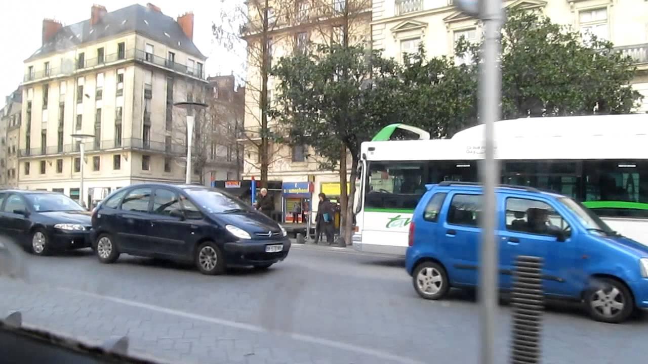 nantes tram near place du cirque youtube. Black Bedroom Furniture Sets. Home Design Ideas