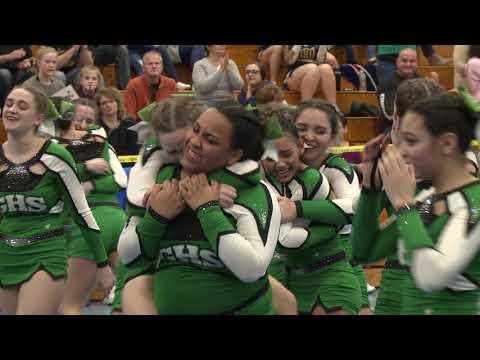 Griswold High School at 2019 ECC Cheerleading Championship