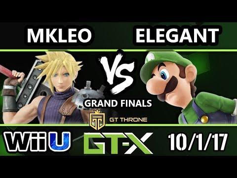 GTX 2017 Smash 4 - BSD | Elegant (Luigi) vs FOX MVG | MKLeo (Cloud) - Wii U G.Finals