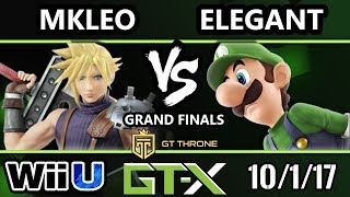 GTX 2017 Smash 4 - BSD | Elegant (Luigi) vs FOX MVG | MKLeo (Cloud) - Wii U G.Finals
