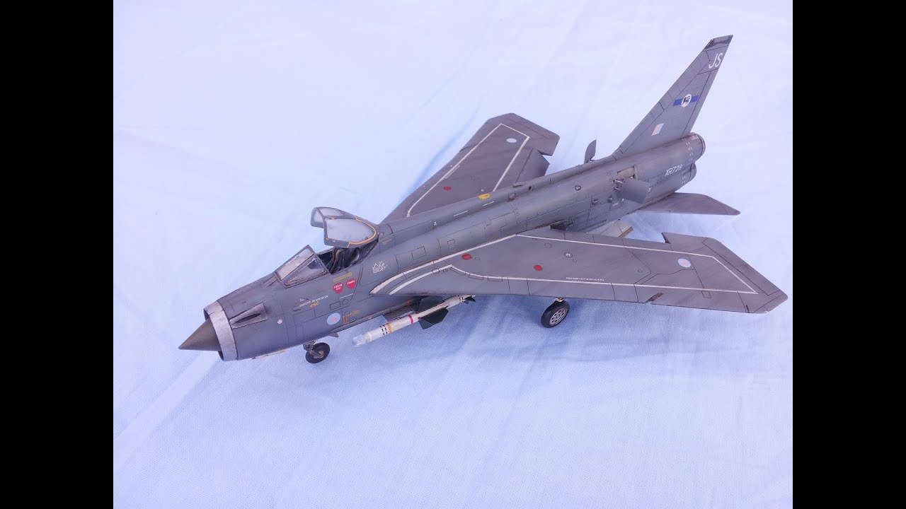 Airfix English Electric Lightning F6 Paint 1  72 Scale 2014 New Tool