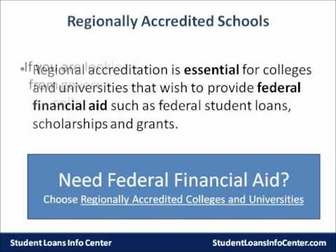 ... an online college - Regional vs. National Accreditation - YouTube