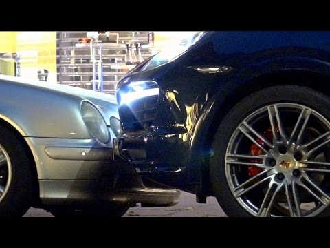 PARKING FAIL: Woman Driver Hits Her Porsche Cayenne 3 Times!