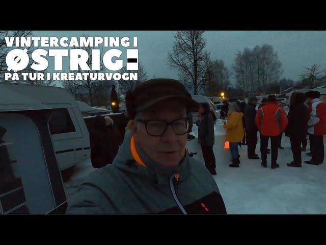 Vintercamping i Østrig - På tur i kreaturvognen