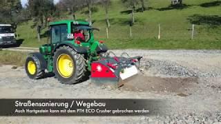 PTH ECO Crusher 150 mit verschiedensten Traktoren im Einsatz