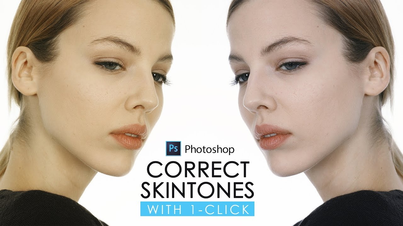 4dff7ce92e58e5 Correct Skin Tone with One Click in Photoshop - Color Correction with  Eyedropper Tutorial