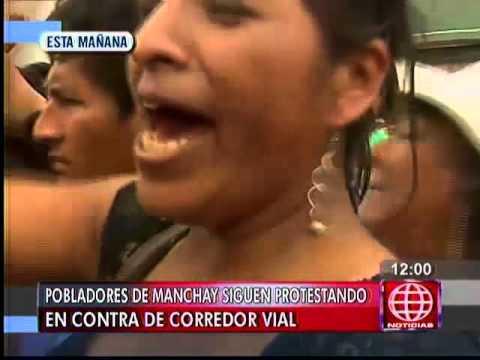 América Noticias: Manchay: Pobladores Mantienen Bloqueado Por Segundo Día El Acceso A La Zona